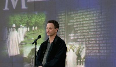 ** FILE ** Actor Gary Sinise, 58, is named an honorary U.S. Marine by Gen. James F. Amos, commandant of the Marine Corps. (Associated Press)