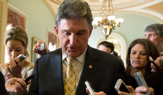 """What we found out is that people just didn't trust government that they were going to stop there,"" says Sen. Joe Manchin III, a West Virginia Democrat who co-sponsored gun control legislation that failed this year. (Associated Press)"
