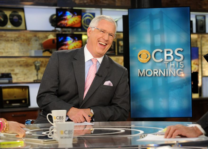 """FILE - This April 18, 2012, file photo, released by CBS shows John Miller on the set of """"CBS This Morning,"""" in New York. CBS News correspondent Miller has bounced between journalism and law enforcement for many years. Now he's jumping back to work for incoming New York City Police Commissioner William Bratton. CBS confirmed Miller's exit on Thursday, Dec. 26, 2013. Miller worked under Bratton when the incoming commissioner led the New York and Los Angeles police departments in the past. (AP Photo/CBS, Heather Wines, File)"""
