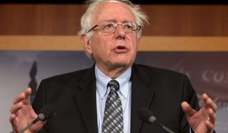 **FILE** Sen. Bernie Sanders, Vermont independent, speaks during a Dec. 6, 2012, news conference on Capitol Hill in Washington. (Associated Press)