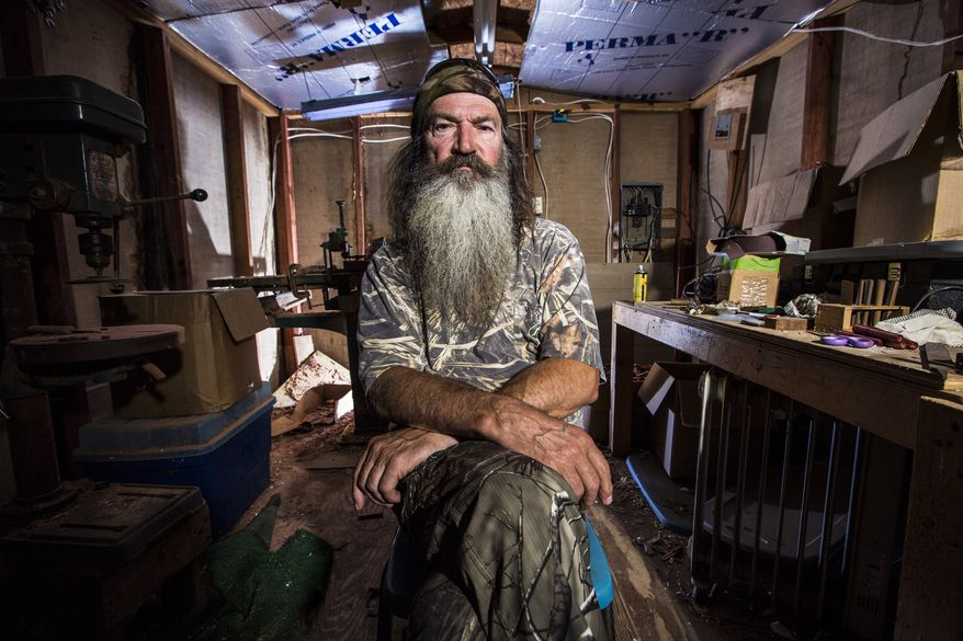 "This undated image released by A&E shows Phil Robertson from the popular series ""Duck Dynasty."" Robertson was suspended for disparaging comments he made to GQ magazine about gay people but was reinstated by the network on Friday, Dec. 27. In a statement Friday, A&E said it decided to bring Robertson back to the reality series after discussions with the Robertson family and ""numerous advocacy groups."" (AP Photo/A&E,)"