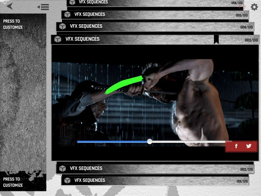 The Wolverine: Unleashed Extended Edition Blu-ray interacts with a Second Screen app for mobile devices that offers such extras as effects sequences. (Courtesy 20th Century Fox Home Entertainment)