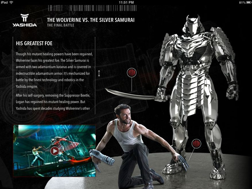 The Wolverine iBook provides an extra resource packed with information for fans watching The Wolverine: Unleashed Extended Edition Blu-ray. (Courtesy 20th Century Fox Home Entertainment)