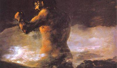 El Coloso by Francisco Goya