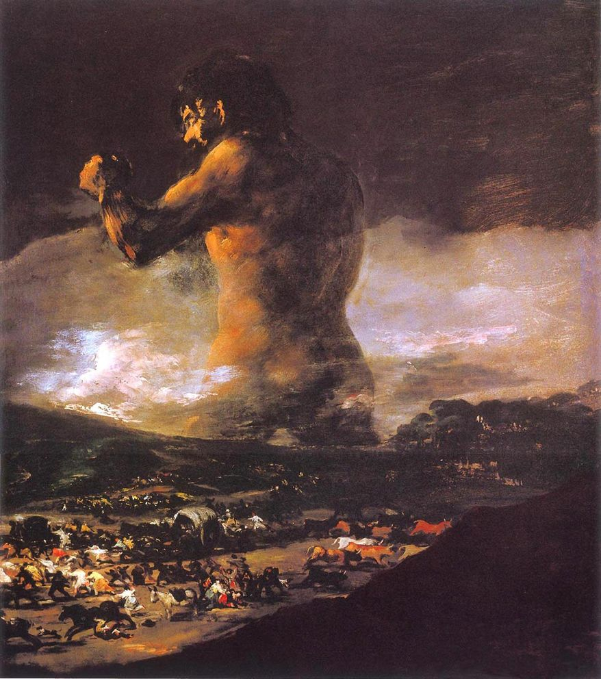 El Coloso by Francisco Goya
