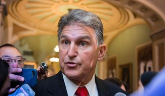 Sen. Joe Manchin III, West Virginia Democrat. (Associated Press) ** FILE **