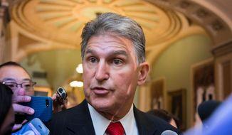 Sen. Joe Manchin III, West Virginia Democrat. (Associated Press) ** FILE **