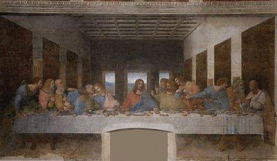 "Leonardo DaVinci's ""The Last Supper."" (Wikimedia Commons)"
