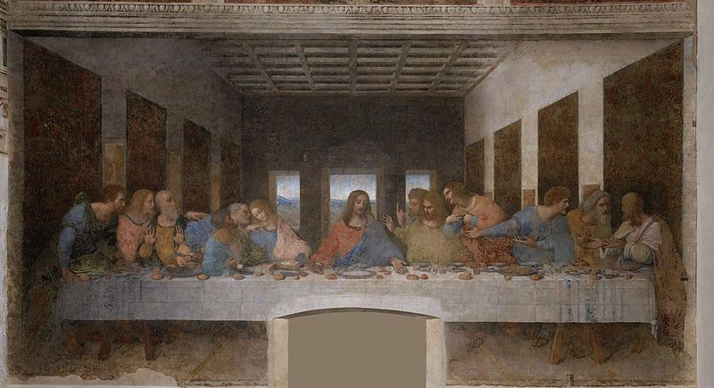 "Leonardo DaVinci's ""The Last Supper."" (Wikimedia Commons)"