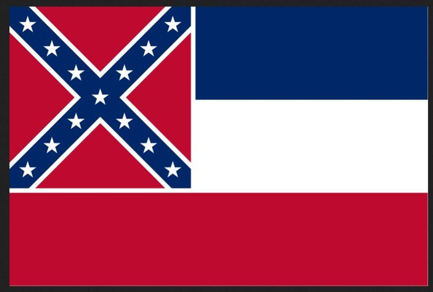 ** FILE ** Mississippi's flag. (Wikipedia)