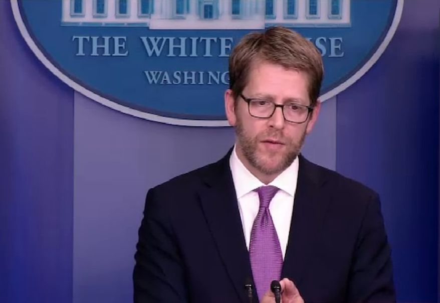 White House press secretary Jay Carney returned Monday from a recent vacation sporting a beard.