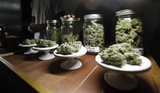 FILE - The proposal that is expected to be submitted to the D.C. Board of Elections would allow residents to legally grow up to six marijuana plants per household. (AP Photo/Elaine Thompson, File)