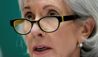 """A proposed rule on guns is """"carefully balanced to protect and preserve individuals' privacy interests,"""" said Health and Human Services Secretary Kathleen Sebelius. (ASSOCIATED PRESS)"""
