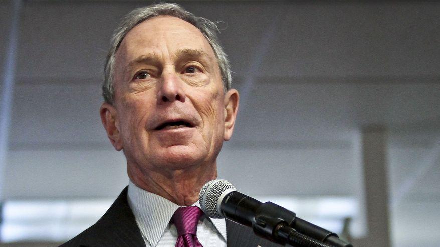 ** FILE ** In this Dec. 18, 2013, file photo, then-Mayor Michael Bloomberg speaks in New York. (AP Photo/Bebeto Matthews, File)