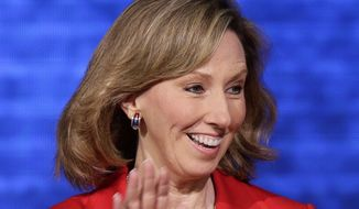 **FILE** Virginia state Delegate Barbara Comstock addresses the Republican National Convention in Tampa, Fla., on Aug. 28, 2012. (Associated Press)