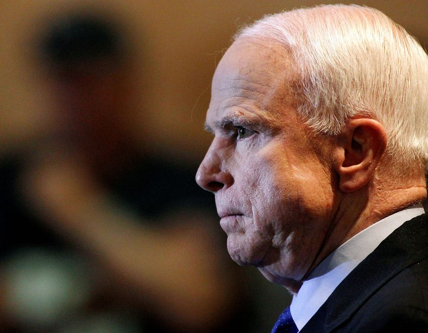 In a letter to the Homeland Security chief Jeh Johnson, Sen. John McCain, Arizona Republican, said that not only is the border insecure but that it is patrolled ineffectively. (Associated Press)