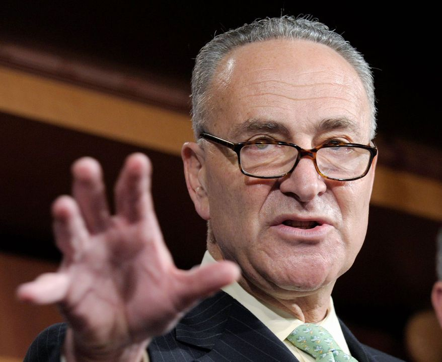 **FILE** Sen. Charles E. Schumer, New York Democrat (Associated Press)