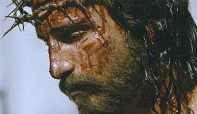 """** FILE ** Jesus Christ played by Jim Caviezel in """"The Passion of the Christ."""" (Associated Press)"""