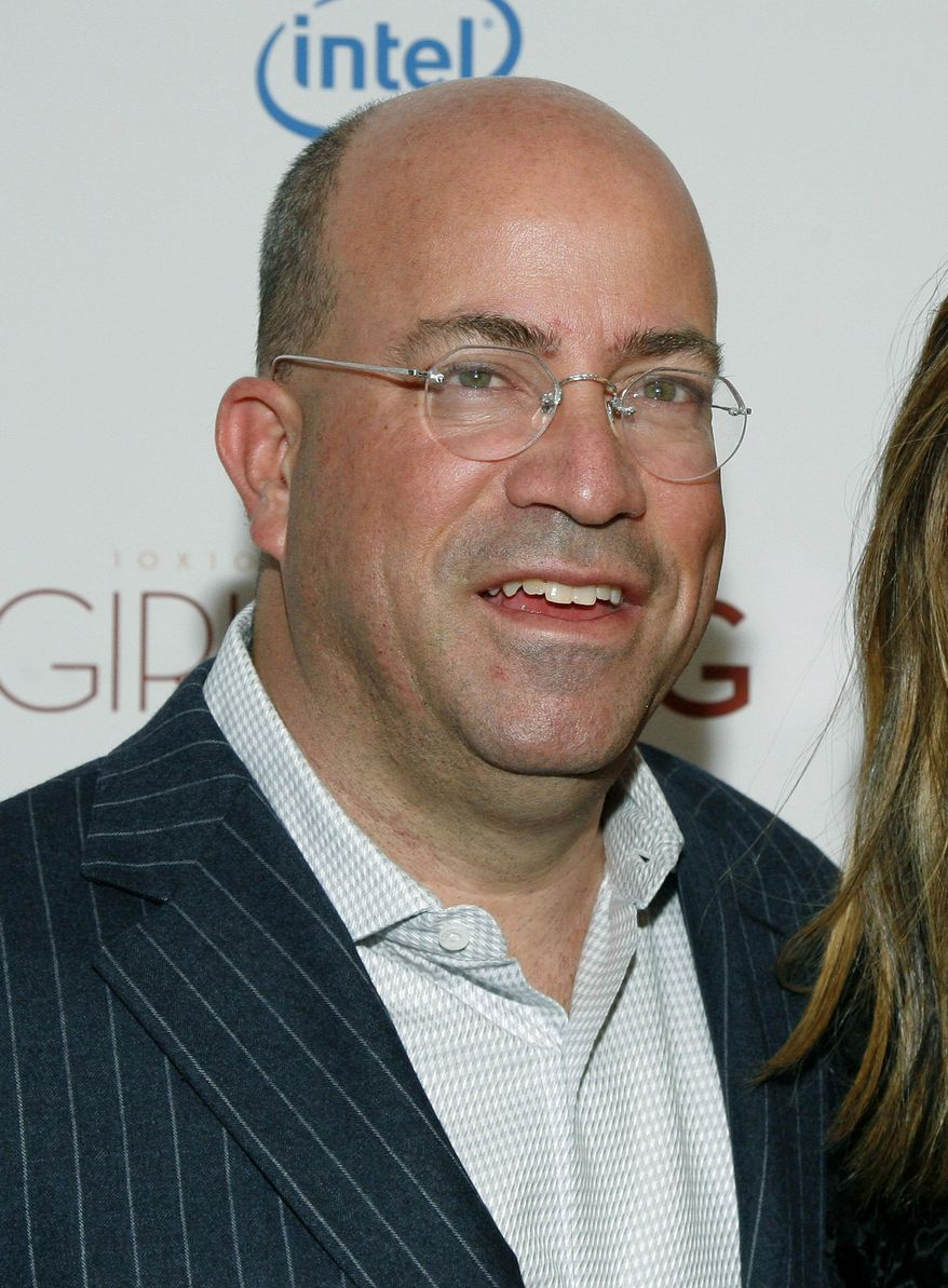 """FILE - In this March 6, 2013 file photo, President of CNN Worldwide Jeff Zucker attends a screening of """"Girls Rising"""" at the Paris Theater in New York. The chiefs of CNN and Fox News Channel are throwing shots at each other, each suggesting the other's network is essentially out of the news business. """"We happen to be in the business, as opposed to some other fair and balanced network,"""" Zucker responded to a Fox News Chairman Roger Ailes remark at a news conference on Friday Jan. 10, 2014. (Photo by Andy Kropa/Invision/AP, file)"""