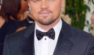 Leonardo DiCaprio arrives at the 71st annual Golden Globe Awards at the Beverly Hilton Hotel on Sunday, Jan. 12, 2014, in Beverly Hills, Calif. (Photo by John Shearer/Invision/AP)