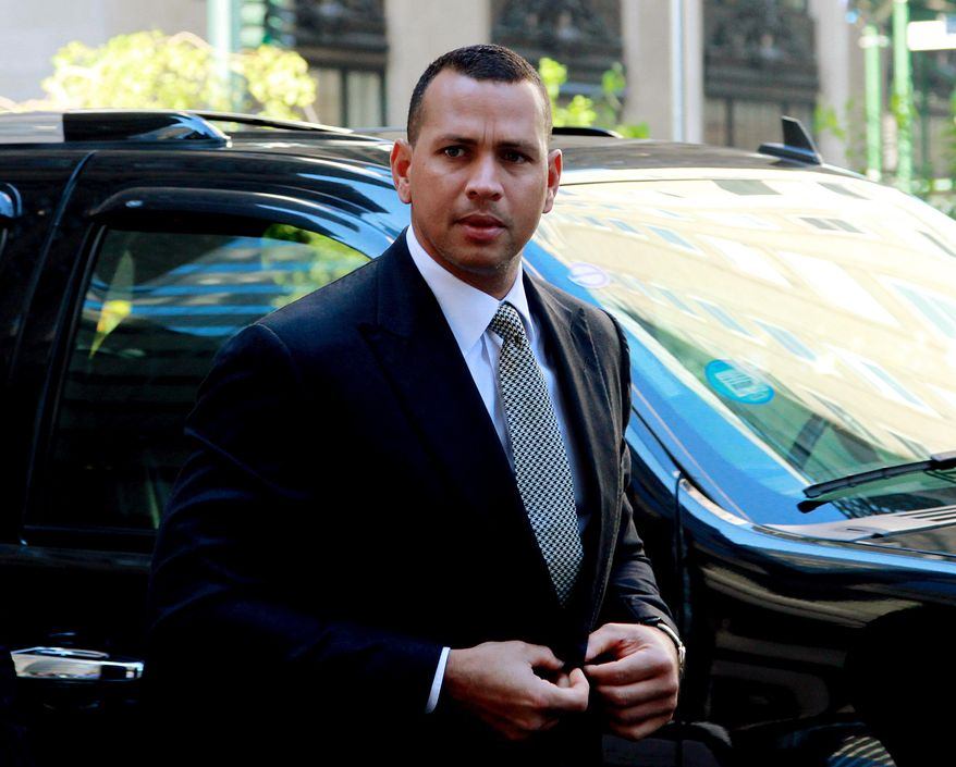 """FILE - This Oct. 1, 2013 file photo shows New York Yankees' Alex Rodriguez arrivng at the offices of Major League Baseball in New York. Rodriguez sued Major League Baseball and its players' union Monday, Jan. 13, 2014 seeking to overturn a season-long suspension imposed by an arbitrator who ruled there was """"clear and convincing evidence"""" he used three banned substances and twice tried to obstruct the sport's drug investigation. (AP Photo/David Karp, file)"""