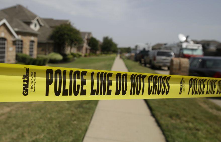 **FILE** Crime scene tape marks off an investigation site. (AP Photo/LM Otero)