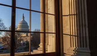 ** FILE ** In this Wednesday, Dec. 18, 2013, file photo, the U.S. Capitol is shown in Washington. (AP Photo/J. Scott Applewhite)