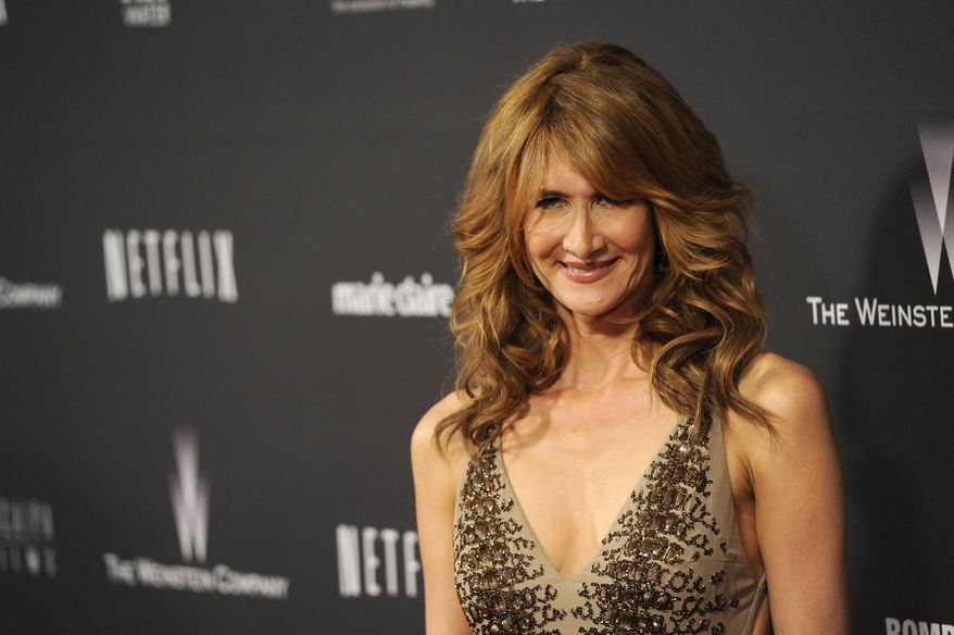 Laura Dern arrives at The Weinstein Company's Golden Globes after party at the Beverly Hilton Hotel on Sunday, Jan. 12, 2014, in Beverly Hills, Calif. (Photo by Chris Pizzello/Invision/AP)