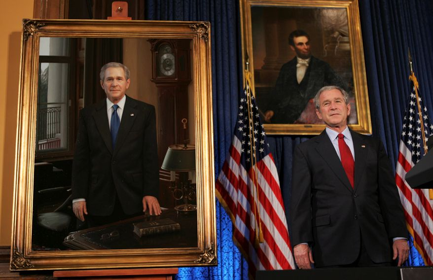 Congress' spending bill bans taxpayer money from financing official portrait paintings of presidents, Cabinet secretaries and high-ranking members of Congress.