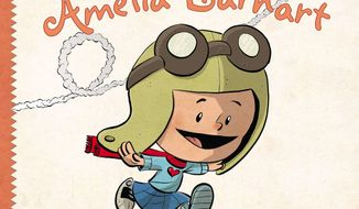"This book cover image released by Dial Press shows ""I am Amelia Earhart,"" by Brad Meltzer. Novelist and comics writer Brad Meltzer is no stranger to heroes, but his latest work focuses on real-world ones with the goal of teaching young readers how to learn from and maybe emulate the likes of Rosa Parks, Amelia Earhart and Abraham Lincoln. (AP Photo/Dial Press)"