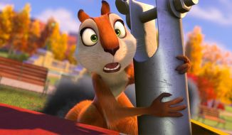 "This image released by Open Road Films shows Andie, voiced by Katherine Heigl, in a scene from ""The Nut Job."" (AP Photo/Open Road Films)"
