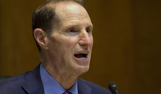 FILE - In this June 6, 2013, file photo, Sen. Ron Wyden, D-Ore. speaks on Capitol Hill in Washington. With a majority of Medicare beneficiaries dealing with two or more chronic conditions, a group of lawmakers from both political parties Wednesday proposed a new approach. One of the main sponsors is Wyden, expected to take over leadership of the Finance Committee, which oversees Medicare. (AP Photo/Jacquelyn Martin, File)