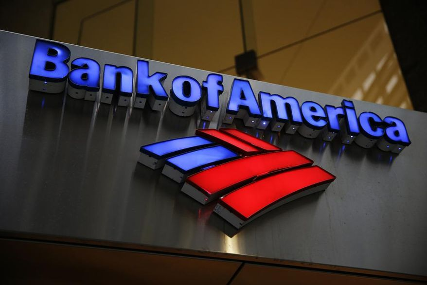 ** FILE ** In this Tuesday, Jan. 14, 2014, photo, a Bank of America sign is displayed in Philadelphia. (AP Photo/Matt Rourke)