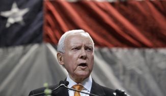 "Sen. Orrin G. Hatch, Utah Republican, said the Obama administration must actively support major trade deals with Asian and European partners or ""we're not going to be successful."" Mr. Hatch is co-sponsor of a bill key to securing these deals. (ASSOCIATED PRESS)"