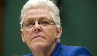 New EPA Administrator Gina McCarthy was aware as far back as 2009 that one of her employees claimed to be working for the CIA while still collecting his EPA paycheck, according to the deposition of John C. Beale. (AP Photo/Cliff Owen, File)