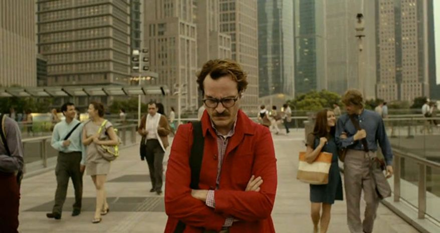 Joaquin Phoenix finds real love with artificial intelligence in Spike Jonze's 'Her.' Phoenix failed to get a nomination for Best Actor.