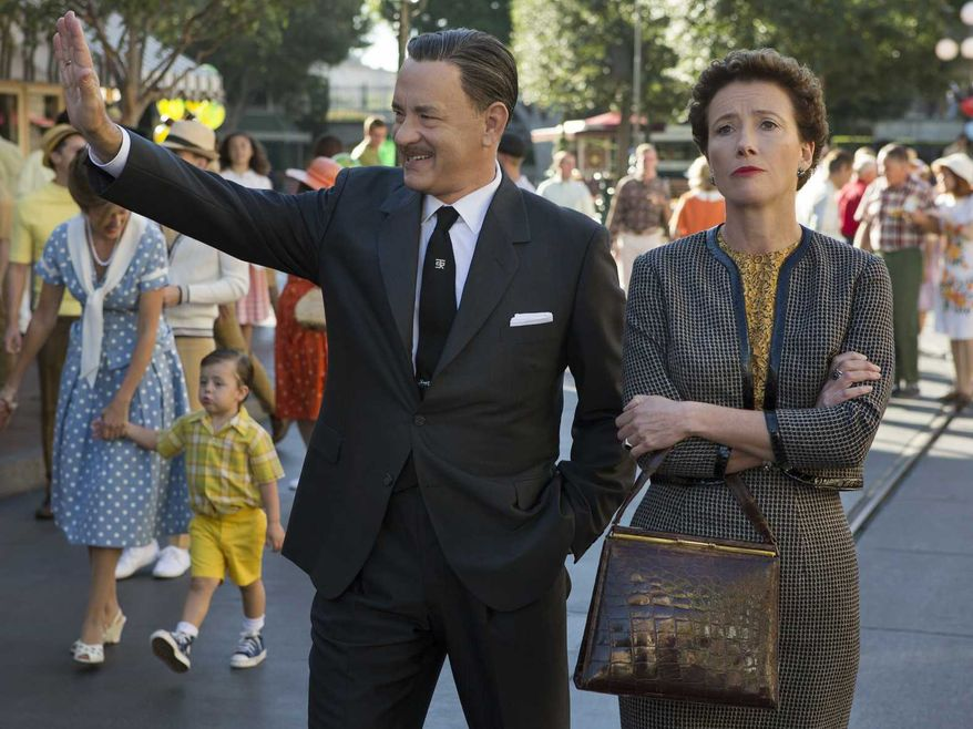 Tom Hanks and Emma Thompson in 'Saving Mr. Banks'. Both Hanks and Thompson got snubbed by the Academy.