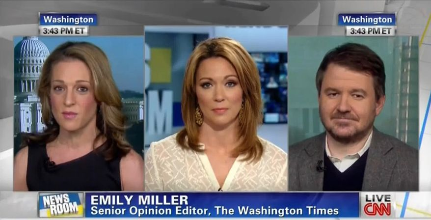 Emily Miller on CNN. Jan. 16, 2013.