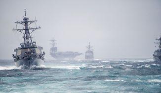 The George H.W. Bush Carrier Strike Group. U.S. Navy photo.