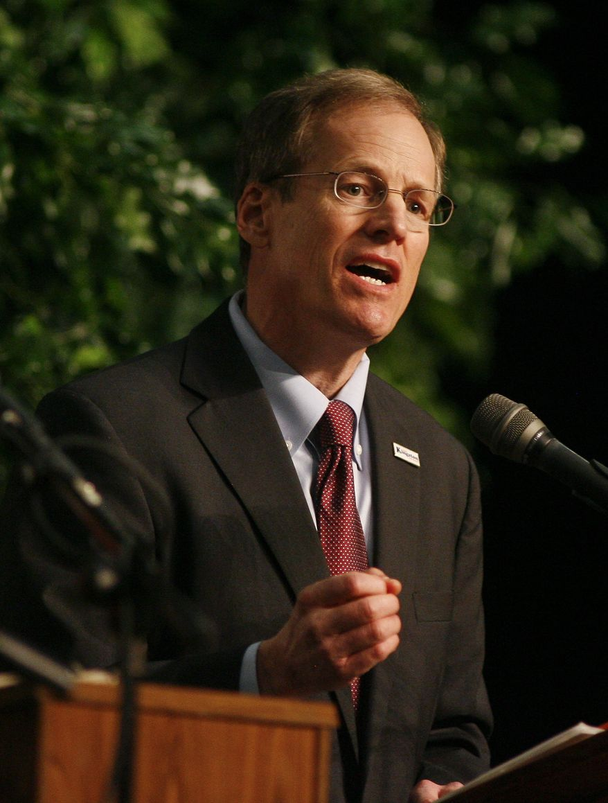 U.S. Rep. Jack Kingston (R-Savannah) speaks during a debate Saturday, Jan. 18, 2014, at the Cook County High School Performing Arts Center in Adel, Ga. The Georgia Republican Party is holding six more debates around the state for the eight GOP candidates competing to replace U. S. Sen. Saxby Chambliss, who is retiring at the end of the year. (AP Photo/Phil Sears)