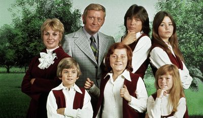"This 1970 photo released by courtesy of Sony Pictures Television shows, back row, from left, cast members, Shirley Jones, Dave Madden, David Cassidy, Susan Dey, and front row, from left, Brian Forster, Danny Bonaduce and Suzanne Crough of the television series, ""The Partridge Family."" Crough died in Nevada at age 52 on April 27, 2015. (AP Photo/Copyright CPT Holdings Inc, Courtesy Sony Pictures Television)"