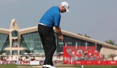 Craig Lee of Scotland plays a ball on the 9th  hole during the 3rd round of the Abu Dhabi HSBC Golf Championship in Abu Dhabi, United Arab Emirates, Saturday, Jan. 18, 2014. (AP Photo/Kamran Jebreili)