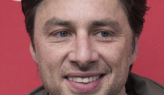 "Director/Co-Writer Zach Braff poses at the premiere of the film ""Wish I Was Here"" during the 2014 Sundance Film Festival, on Saturday, Jan. 18, 2014 in Park City, Utah. (Photo by Arthur Mola/Invision/AP)"