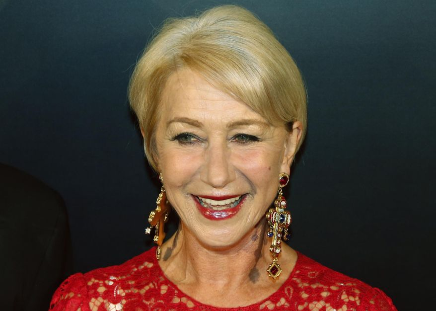 FILE - In this Oct. 17, 2013 file photo, British actress Helen Mirren attends the 50th Anniversary of Mandarin Oriental Hotel in Hong Kong. Mirren was named Friday, Jan. 17, 2014, as Harvard University's Hasty Pudding Theatricals 2014 Woman of the Year. (AP Photo/Kin Cheung, File)
