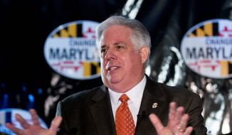 "Maryland Republican Larry Hogan speaks to supporters during the ""Change Maryland"" event in Annapolis, Md., on Friday, Nov. 22,  2013. Hogan says he is planning to run for governor, even though he may not formally launch his campaign until January. (AP Photo/Jose Luis Magana)"