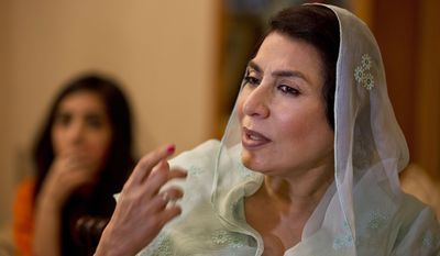 In this Friday, Dec. 13, 2013 photo, Breast cancer survivor and prominent Pakistani politician Fehmida Mirza, speaks during an interview in Islamabad, Pakistan. Mirza and groups are trying to draw attention to breast cancer and break the silence surrounding it. (AP Photo/B.K. Bangash)