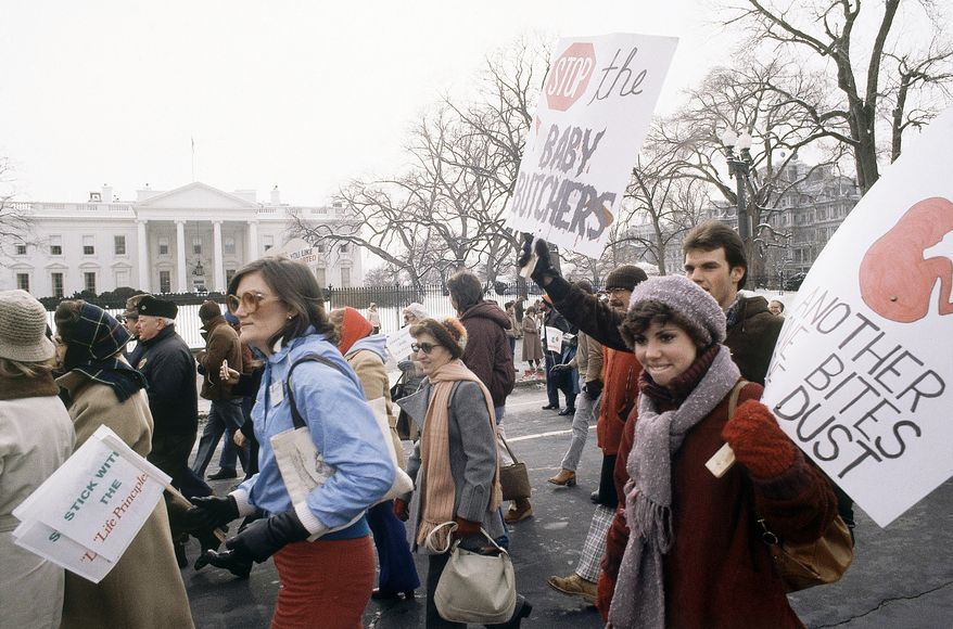 March For Life demonstration in front of the White House in Washington on Jan. 23, 1982. (AP Photo/Ira Schwarz)