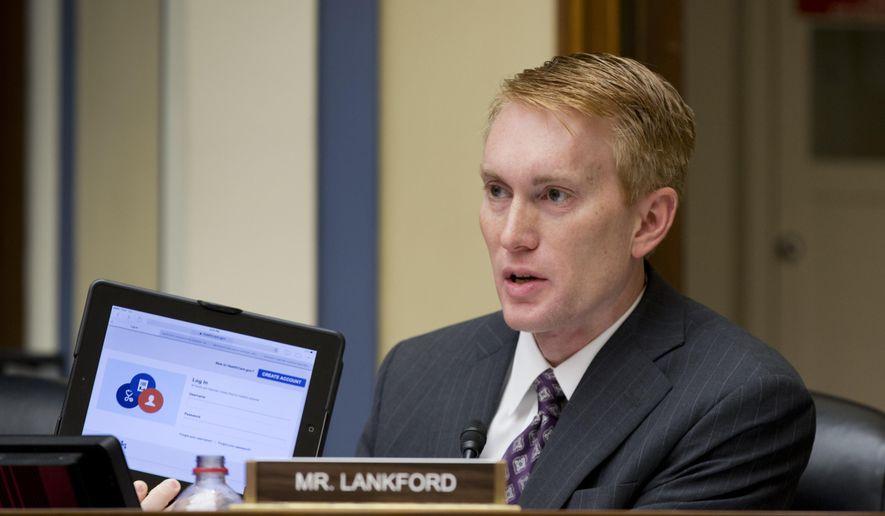 Rep. James Lankford won the Republican nomination race to replace retiring Sen. Tom Coburn of Oklahoma. (AP Photo/J. Scott Applewhite, File)