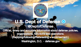 U.S. Department of Defense official Twitter account. (Screengrab)