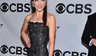 """FILE - In this June 9, 2013 file photo, Laura Osnes arrives on the red carpet at the 67th Annual Tony Awards, in New York.  While the provocative musical """"The Threepenny Opera"""" celebrates lowlifes, the upcoming production by the Atlantic Theater Company will star some royalty --Tony Award nominee Osnes, Academy Award winner F. Murray Abraham and Emmy Award winner Michael Park. The Atlantic announced the line-up Wednesday, Jan. 22, 2014, which also includes Tony nominee Mary Beth Peil, and Broadway veterans Sally Murphy and Rick Holmes. (Photo by Charles Sykes/Invision/AP, File)"""